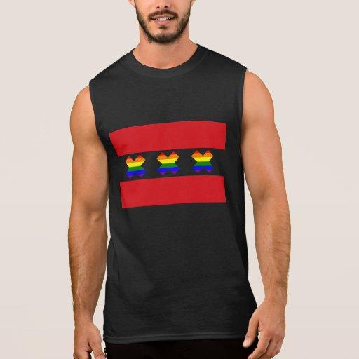 Amsterdam Gay Pride Rainbow X Black Sleeveless T-shirts