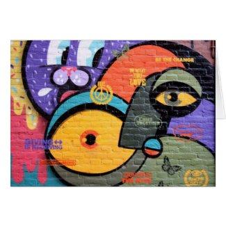Amsterdam Graffiti Notecard