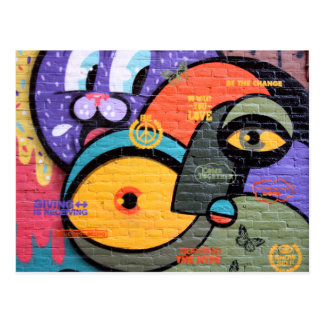 Amsterdam Graffiti Postcard