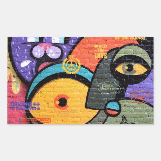 Amsterdam Graffiti Rectangular Sticker