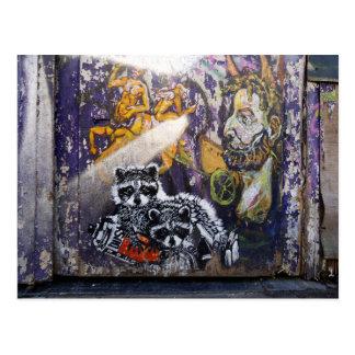 Amsterdam Graffiti Street Art Nr. 1 - Raccoon Postcard