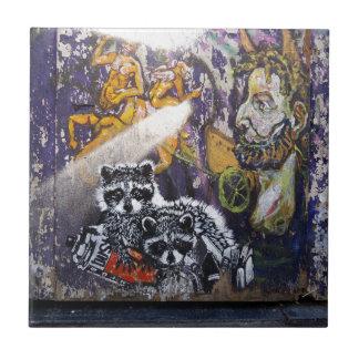 Amsterdam Graffiti Street Art Nr. 1 - Raccoon Tile