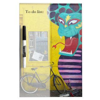 Amsterdam Graffiti Street Art Nr. 4 - Snake Dry-Erase Whiteboard