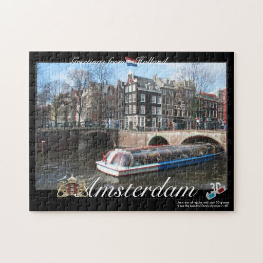 Amsterdam Holland 3D Anaglyph Jigsaw Puzzle
