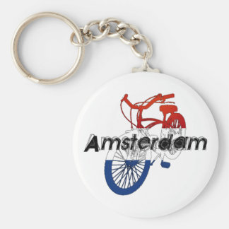 Amsterdam Holland Netherlands Cycling Keychains