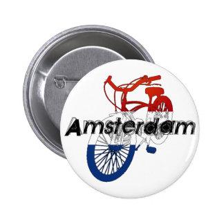 Amsterdam Holland Netherlands Cycling Pinback Button