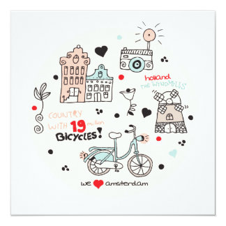 Amsterdam Holland travel postcard