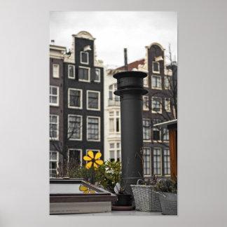 Amsterdam - Houseboat Smokestack Poster