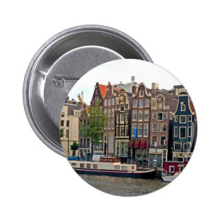 Amsterdam, houses on the canal button