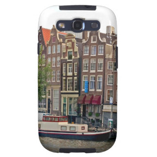 Amsterdam houses on the canal galaxy s3 cases