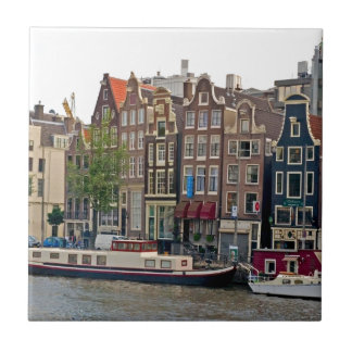 Amsterdam, houses on the canal ceramic tile