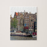 "Amsterdam, houses on the canal jigsaw puzzle<br><div class=""desc"">Amsterdam,  houses on the canal</div>"