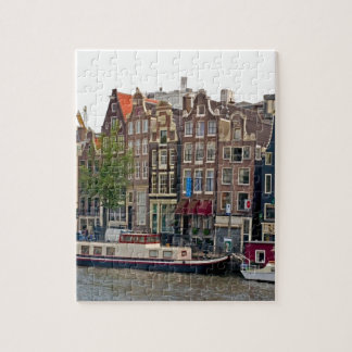 Amsterdam, houses on the canal jigsaw puzzle