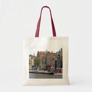 Amsterdam, houses on the canal tote bag