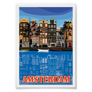 Amsterdam Houses Poster