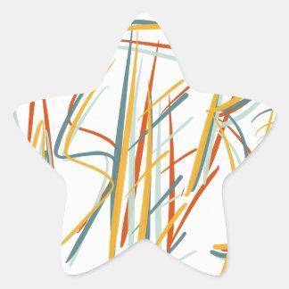 Amsterdam in Art Star Sticker