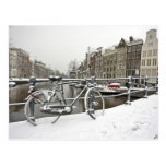 Amsterdam in winter in the Netherlands Post Card