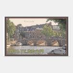 Amsterdam - Keizersgracht Rectangular Pegatina