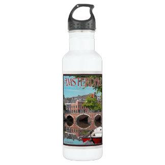 Amsterdam - Keizersgracht-RGrachtCentrum 24oz Water Bottle