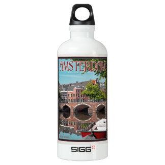 Amsterdam - Keizersgracht-RGrachtCentrum Aluminum Water Bottle