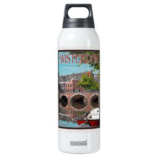 Amsterdam - Keizersgracht-RGrachtCentrum 16 Oz Insulated SIGG Thermos Water Bottle