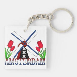 Amsterdam Keychain Square Acrylic Keychain