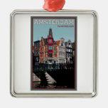 Amsterdam - Leidsestraat - Keizersgracht Adorno Navideño Cuadrado De Metal