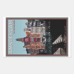 Amsterdam - Leidsestraat - Keizersgracht Rectangular Pegatina
