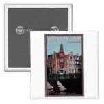 Amsterdam - Leidsestraat - Keizersgracht Pin Cuadrado