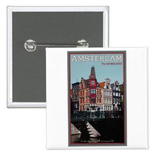 Amsterdam - Leidsestraat - Keizersgracht Pinback Button