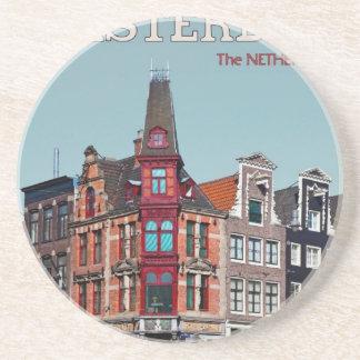 Amsterdam - Leidsestraat - Keizersgracht Posavasos Personalizados