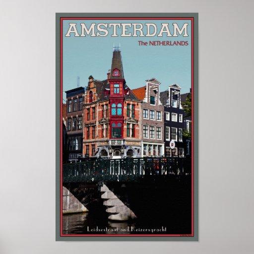 Amsterdam - Leidsestraat - Keizersgracht Póster
