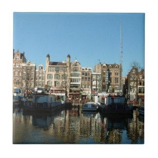 Amsterdam, los Países Bajos Azulejo Cuadrado Pequeño