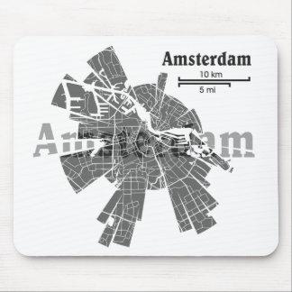Amsterdam Map Mousepad