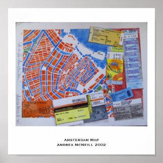 Amsterdam Map Poster