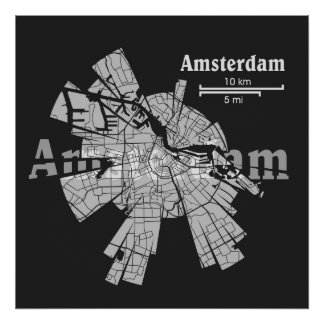 Amsterdam Map Poster [new]