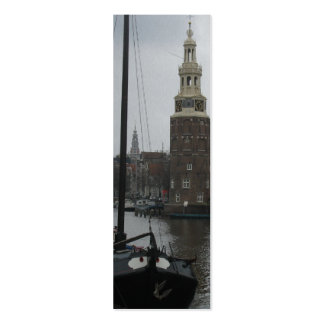 Amsterdam Montelbaan Tower Photo Bookmark Double-Sided Mini Business Cards (Pack Of 20)
