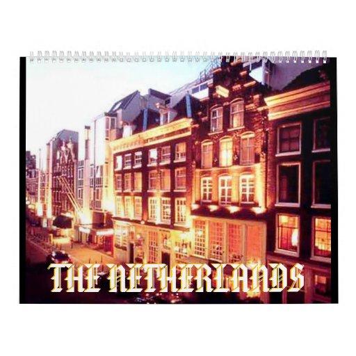 AMSTERDAM, NETHERLANDS CALENDER. Designed by Moji Wall Calendar