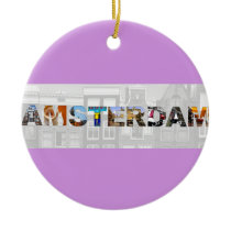 Amsterdam Netherlands Canal Homes Travel Photos Ceramic Ornament