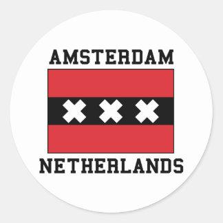 Amsterdam Netherlands Classic Round Sticker