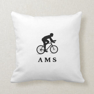 Amsterdam Netherlands Cycling AMS Throw Pillow