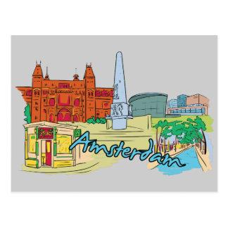 Amsterdam, Netherlands Famous City Postcard