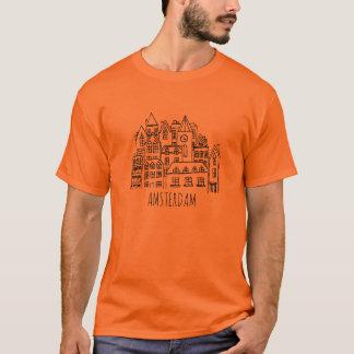 Amsterdam Netherlands Holland City Souvenir Orange T-Shirt