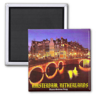 AMSTERDAM, NETHERLANDS 2 INCH SQUARE MAGNET