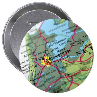 Amsterdam, Netherlands Map Button