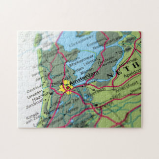 Amsterdam, Netherlands Map Jigsaw Puzzle