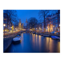 Amsterdam, Netherlands Photography Postcard