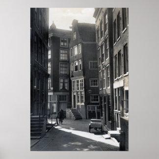 Amsterdam Netherlands St. Olofssteeg Street Poster