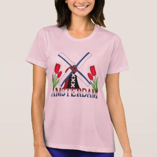 Amsterdam Netherlands Tulips Windmill Shirt