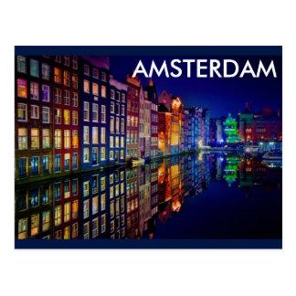AMSTERDAM NIGHT POSTCARD